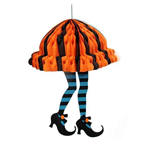 (Yeefant 1pc Halloween Pendant Decoration Props Durable Paper Tag Adornment Ghost Festival KTV Bar Garden Decor,1.8 x 9.05)