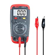 DMiotech Multimeter Digital Capacitance Meter Capacitor Pro Tester 0.1pF - 20000uF with LCD Backlight Max 1999 Display w Data Hold Function UA6013L