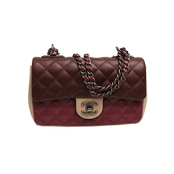 Chanel Womens Tri-color Leather Flap Chain Shoulder Bag A92632