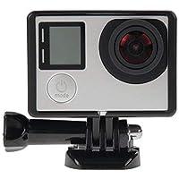 TECHVIDA Carcasa estándar de Montaje en Bastidor de Borde con Base de Montaje y Tornillo de Perno para cámara GoPro Hero 4 3+ 3(1 PCS)