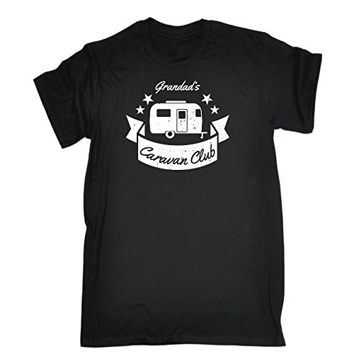 para camiseta Club Negro Fit Mens Slogans chistoso Caravan Wide ella Aniversario Regalo 123t Grandad's wHnP04anq