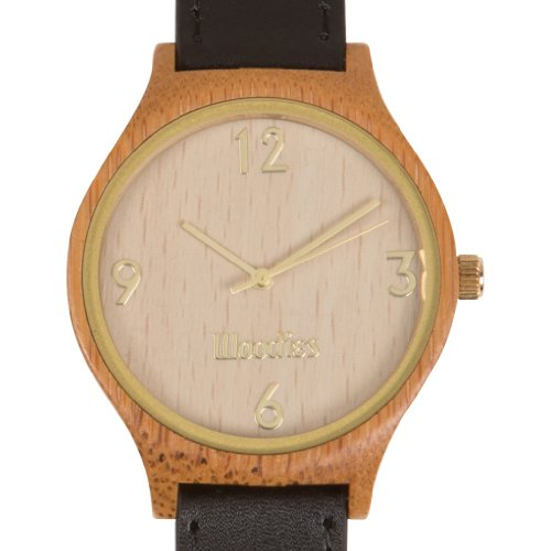 WOODIES Gold Bamboo Wood Watch