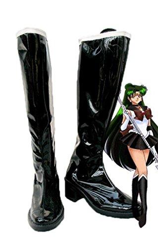 Bromeo Sailor Moon Sailor Pluto Setsuna Meioh Cosplay Schuhe Stiefel Stiefeletten