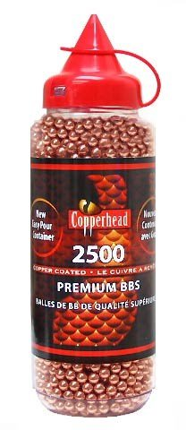 Airgun Ammo  Copperhead Bbs  2500 Ct  Copper Coated