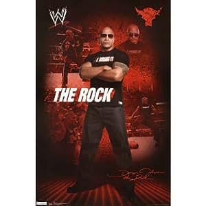 (22x34) The Rock WWE Sports Poster Print Poster Print, 22x34