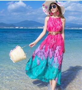 Böhmischen kleid Meer Urlaub pareos Dürr Thailand pareos Groß - kleid im Sommer