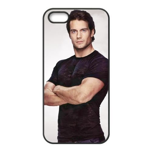Henry Cavill 005 coque iPhone 4 4S cellulaire cas coque de téléphone cas téléphone cellulaire noir couvercle EEEXLKNBC25718