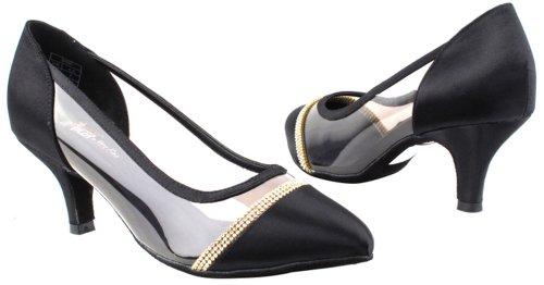 Scarpe Molto Belle Da Donna Standard E Serie Di Ballerino Liscio Liscio Cd5502 2,5 Nero Satinato