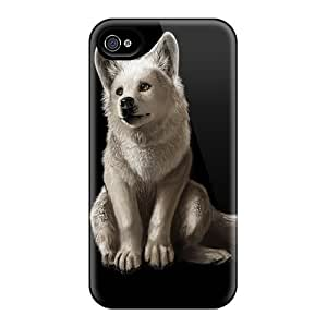 Iphone 4/4s Case Slim [ultra Fit] Little White Wolf Protective Case Cover