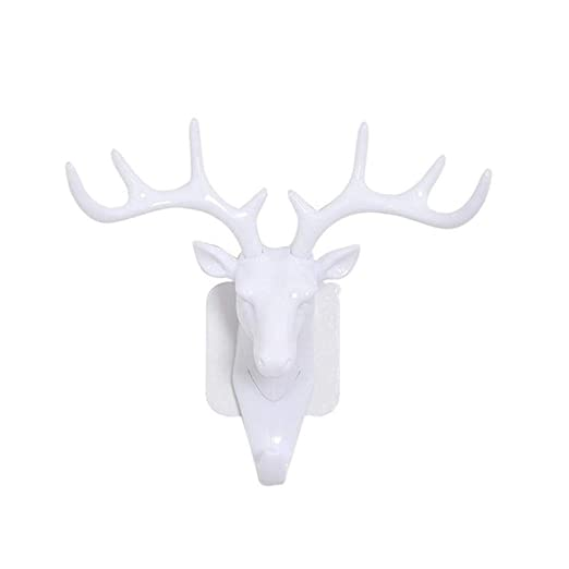 C-GRMM 2Pcs Deer Head Display Stand Animal Autoadhesivo Ropa ...