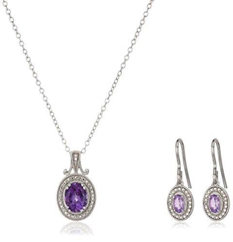 Amethyst Oval Jewelry Box - 2
