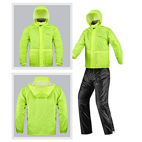 Green Fluorescent Impermeabile color Per Dimensione Green Pioggia Da Motociclista Geyao Xxxl wpTqa0ZZ