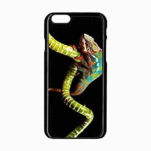 iPhone 6 Black Hardshell Case 4.7inch reptile chameleon color twig Desin Images Protector Back Cover