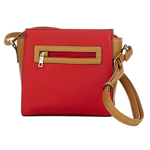Anti Pacsafe Camel Red Crossbody with Bag Features Theft TravelSmith RFID awqSg6px