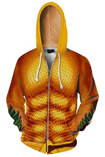 COSMOVIE Unisex 3D Printed Zip Up Hoodie Jacket with Kanga Pocket Casual Pullover Hooded Sweashirt]()