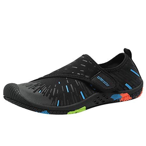 Yucode Mens Water Sport Shoes Quick-Dry Barefoot Solid Drainage Sole for Swim Diving Surf Beach Aqua Swim Surfing Shoes
