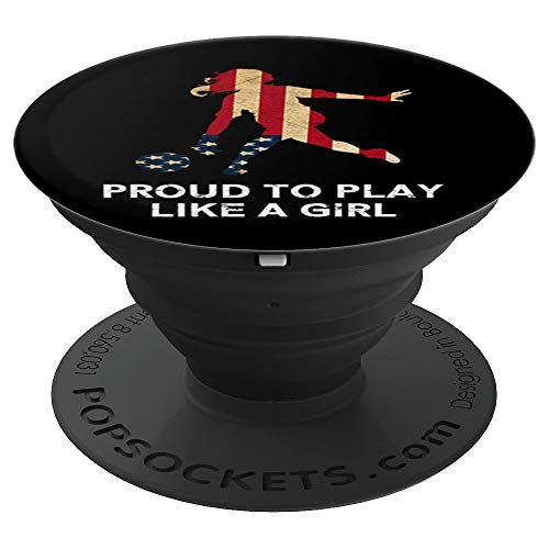 US. Women Bowling Team Player Sport Fan Shirt Proud To Play PopSockets Grip and Stand for Phones and Tablets