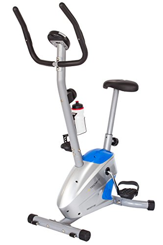 TechFit Velocity Fitness Exercise Magnetic Bike, Weight Loss Cardio Machine with Adjustable Saddle, Pulse Sensors and LCD Monitor TechFit