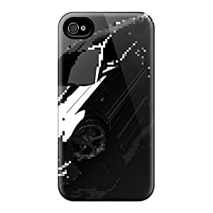 Flexible Tpu Back Case Cover For Iphone 4/4s - Distorted Reality