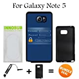 Admin Login Custom Galaxy Note 5 Cases-Black-Plastic,Bundle 2in1 Comes with Custom Case/Universal Stylus Pen by innosub
