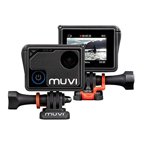 Veho Muvi KX-2 NPNG Action Camera | KX-Series | Handsfree Camcorder | WiFi | 32GB microSD Card | 4k Action Cam | 12MP Photo | 4k30 / 1080p100 | Waterproof Housing (VCC-009-KX2-NPNG)