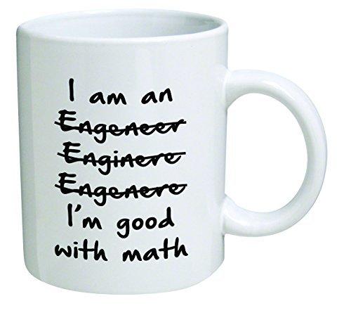 Funny Wrong I'm An Engineer Good with Math BLACK13F37 - 11 Oz Coffee Mug - Funny Inspirational and Sarcasm