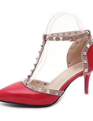 Boda Rojo Mujer 3 2 4in 3 2in Negro boda Tacones de 4in Gris 2in Zapatos gray Rosa 2 gray Confort Puntiagudos ZQ xPgwqnAF