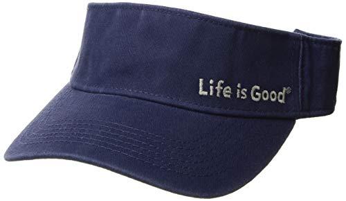 Life is Good Visor Evolved Lig Fishing Hats, Darkest Blue, One Size (Life Good Cotton Is Visor)