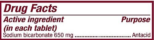 Bicarbonate de sodium antiacide 650 Mg comprimés (10 Grains) 1000 comprimés par bouteille