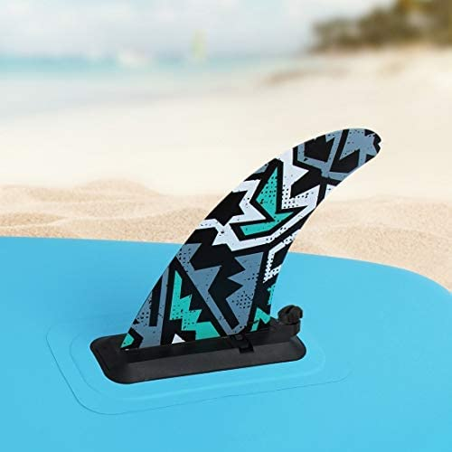 SereneLife PRTSLSUNEWFIN Stand-Up Inflatable Paddle Water Fin for SereneLife Thunder Wave Inflatable SUP Stand-Up Paddle Boards SLSUPB10 and SLSUPB20