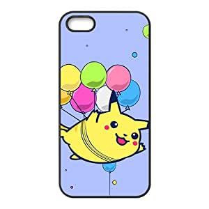 ZXCV Lovely Pokemon happy Pikachu Cell Phone Case for Iphone 5s