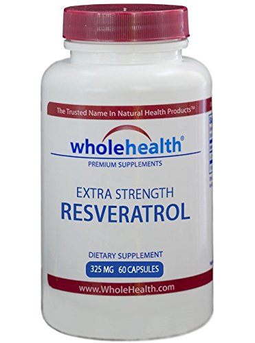 Cheap WholeHealth Extra Strength Resveratrol 325mg From Japanese Knotweed (60 Caps) – Natural Powerful Antioxidant Supplement With Anti Aging Properties & Heart Support In Just One Daily Capsule!