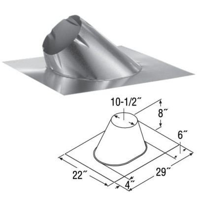 Adjustable 0/12 - 6/12 Roof Flashing - 8''