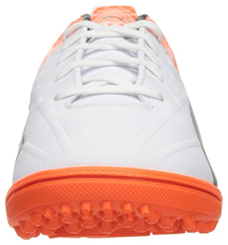 Puma Evospeed 4.5 trucos de zapatos de fútbol Tt Puma White-Puma Black-Shocking Orange