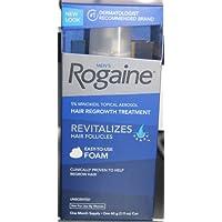 Rogaine 5% Minoxidil Aerosol tópico para el recrecimiento del cabello para hombres Sin fragancia Suministro para un mes 2.11 oz lata