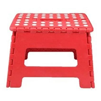 /Sgabello pieghevole/ plastica Eccellente Houseware Small/ 36x32x4cm Red /Capacit/à 100/kg