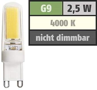 McShine Silicia COB - Bombilla LED con casquillo de patillas (G9, 2,5