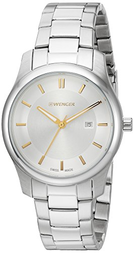 Wenger-Mens-City-Classic-Swiss-Quartz-Two-and-Stainless-Steel-Casual-Watch-ColorSilver-Toned-Model-011421105