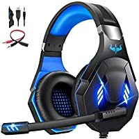 OVLENG Gaming Headset with Microphone for Xbox One/PC/Switch,PS4 Headset with 360°Noise Cancelling Mic,50mm Drivers,Stereo Surround Gaming Headphones with Super Soft Memory Earmuffs for Kids Adults