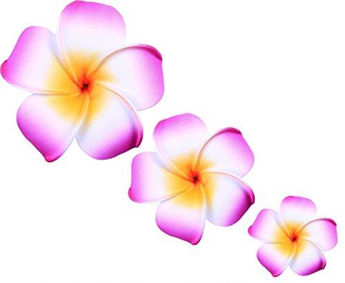 (LD DRESS Plumeria Hawaiian Foam Frangipani Flower for Wedding Party Decoration Package (Purple))