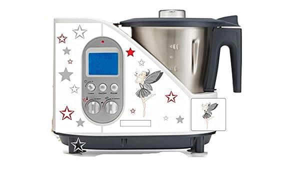 Robot de cocina pegatinas Hada gris estrellas rojo gris para SC ...