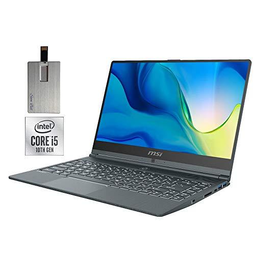 """2020 MSI Modern 14"""" FHD Laptop Computer, 10th Gen Intel Core i5-10210U, 16GB RAM, 1TB PCIe SSD, Intel UHD Graphics, Backlit Keyboard, HD Webcam, USB-C, Win 10 Pro, Gray, 32GB Snow Bell USB Card"""
