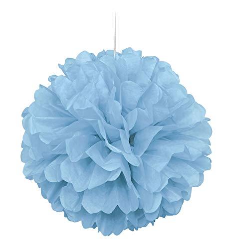 16 Light Blue Tissue Paper Pom Pom