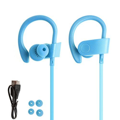SCASTOE Bluetooth 4.1 Stereo Headphone with Mic, Handsfree Wireless In-Ear Sport Earphone -Blue
