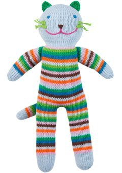(Blabla Sandwich the Cat Mini Plush Doll - Knit Stuffed Animal For Kids. Cute, Cuddly & Soft Cotton Toy. Perfect, Forever Cherished. Eco-Friendly. Certified Safe & Non-Toxic.)
