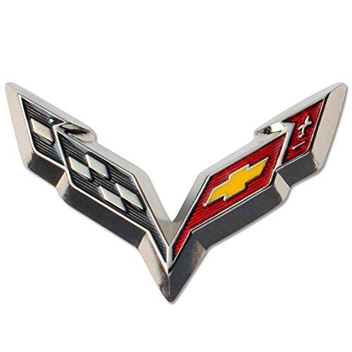 2014 Corvette C7 Emblem Beveled Lapel Pin - Import It All