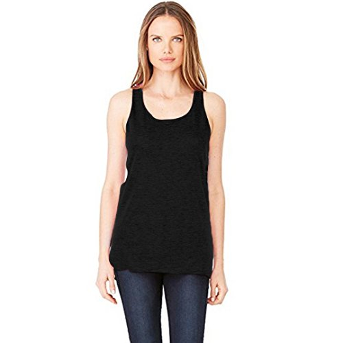 LHWY Las Mujeres Sin Mangas Camiseta Blusa Casual Sueltos Tops Camisetas Tee Shirt Negro