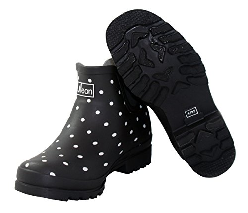 Boots and Ankle Jileon Foot in for Height Rubber Wide Women Rain Black Ankle The Spot wwIqaP