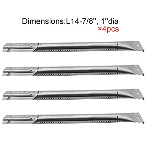 Hotsizz 16791 (4-pack) Replacement Straight Stainless Steel Pipe Burner for Kenmore Sears, K Mart, Nexgrill, Lowes Model Grills - Stainless Steel Pipe Burner