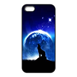 Wolf Howling iPhone 5 5s Cell Phone Case Black UI8311266